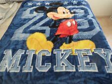 """New listing New! Disney Mickey Mouse blue Baby blanket toddler Boys 40""""x50"""" Plush"""