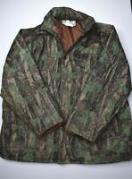 Vintage Duck Bay Trebark Camouflage Jacket Size XL Hunting Waterproof PVC