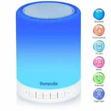 Portable Bluetooth Speaker Lamp, Homecube Touch Bedside Lamp with Dimmable Mo...