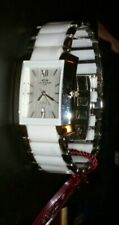 New ONISS Paris Watch White Ceramic & Stainless, White Textured Dial,Box,Papers