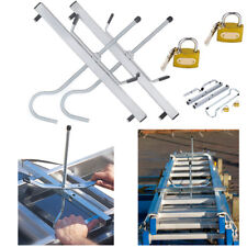2 Lock Universal Heavy Duty Ladder Roof Rack Clamp Clamps Lockable Ladders