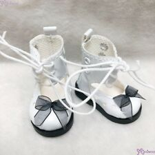 Mimiwoo Yo SD 1/6 bjd Doll Shoes Lace Hole Boots White  (for Foot 4.5cm long)