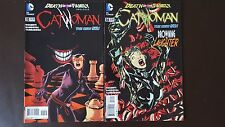 Catwoman 13 (2nd print) + 14 (1st print) Death of the Family tie-in