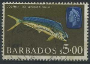 Barbados 1965 Dolphin Fish $5 used