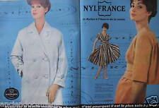 PUBLICITÉ 1959 NYLFRANCE IMPERMÉABLE CRACKNYL ROBE TOILE - ADVERTISING