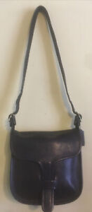 Vintage Coach Courier Leather Bag Made In NYC Black Wonderful Bag