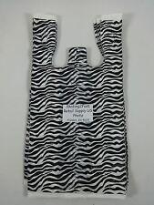 Zebra Print Design Plastic T Shirt Retail Shopping Bags Handles 8 X 5 X 16