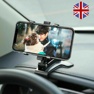 Car Mobile Phone Holder Clamp Clip On Dashboard Cradle Stand For iPhone Samsung