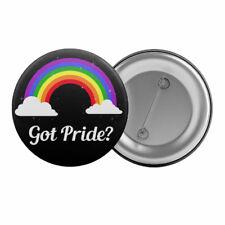 "Got Pride? Rainbow - Badge Button Pin 1.25"" 32mm Gay Lesbian Queer LGBT"