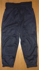 NWT Boys Rawlings Baseball softball T-ball pants Size XS M L Black Girls