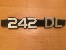 Volvo 242 DL Trunk / Tailgate / Boot Emblem Badge Early DL RARE IPD