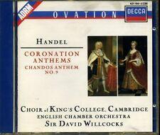 CD- HANDEL - CORONATION ANTHEMS  - WILLCOCKS - ST MARTIN - DECCA - 1 CD - ZCD4