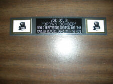 JOE LOUIS (BOXING) NAMEPLATE FOR SIGNED GLOVES/TRUNKS/PHOTO DISPLAY