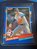 1991 Donruss NOLAN RYAN Baseball Card #89 Texas Rangers MINT in toploader  HOF