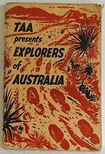 TAA presents Explorers of Australia school book Airline advertising Harry Hudson