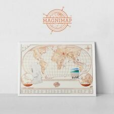 Mapa rascar Magni-map Luckies Travel Scratch off World pared Magnético nevera