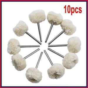 10pcs Polishing Mop Buffing Wheel Polish Pad Polishers For Rotary Drill Bit Tool
