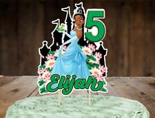 Princess Tiana and the Frog Personalized Cake Topper, Custom Cake Topper