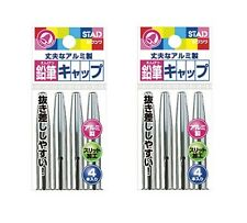 2 Set x Kutsuwa STAD Wood Lead Pencil Cap Metal ( Total 8 Caps )