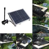 10W 17V Solar Power Fountain Garden Pond Pool Water Feature Pump Submersible Lot