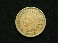 SUMMER SALE!!  VF-XF 1899 INDIAN HEAD CENT PENNY w/ DIAMONDS & FULL LIBERTY 177s