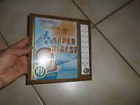 Ancien Thermomètre Glaçoïde Publicitaire Biscotte super Digest