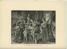 ANTIQUE YOUNG MARTIN LUTHER CHILDREN HOUSE HOME FRAU COTTA BABY HIGH CHAIR PRINT