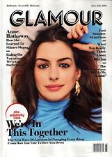GLAMOUR MAGAZINE JUNE/JULY 2018 ANNE HATHAWAY BRAND NEW INPUB WRAP SHIPS FREE