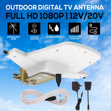 Outdoor Digital TV Antenna Amplified Aerial booster DAB+ UHF/VHF Caravan RV Boat