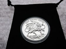 1 oz Fine Silver .999 THE JERSEY DEVIL Silver Round with Capsule & Coin Pouch