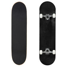 "Cal 7 Stained Black 8"" Complete Popsicle Skateboard"