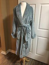 NEW Pottery Barn SMALL Luxe Cozy Robe Blue Gray NWOT
