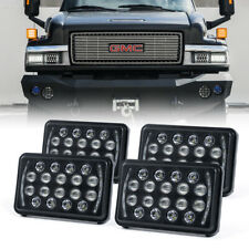 "Xprite 4 PCs Rectangular 4X6"" LED DRL Sealed Beam Headlights with High Low Beam"