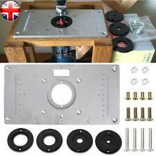 Aluminum Router Table Insert Plate With Ring For Woodworking Trimmer 235x120x8mm