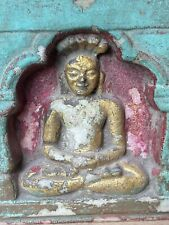 17 Antique Stone Fine Setting Buddha Gold Painted Jharokha Temple Rare Statue