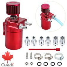 0.3L Oil Catch Can Breather Tank Aluminum Reservoir 9/15mm Fitting Red Universal