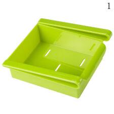 Slide Kitchen Fridge Freezer Space Saver Organizer Storage Rack Shelf HolderNEU