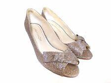 NIB Caparros Women's Shoes Iberia Evening Pumps Champagne Sparkle Open Toe  9B