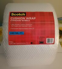 "Scotch Cushion Wrap Dispenser Box, 12"" x 240' Roll, 240 sq. ft. Plastico buble"