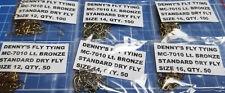 MC-7010 Lt. Bronze, Standard Dry Fly Hooks,