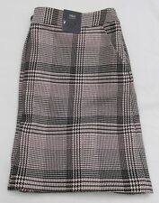 LADIES MARKS AND SPENCER LIGHT PINK CHECK MINI SKIRT FULLY LINED SIZE 16