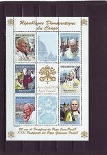 Congo Sheet Famous People Postal Stamps
