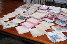 Vintage Womens Lot 38 Handkerchiefs Floral Mono B L Mother +
