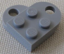 LEGO LIGHT BLUISH GREY VALENTINES DAY HEART LOVE TOKEN CHARM NECKLACE