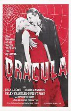 Dracula (3) - A4 Laminated Mini Movie Poster - Bela Lugosi - Universal Horror