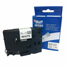 Brother Compatible TZ231 P-Touch For PT1200 PT1230PC 12mm Gloss Black/White Tape