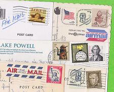 Lot de 5 CP - ETATS UNIS - 10 timbres en tout