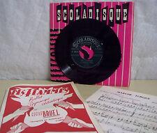 Georges AUBANEL Vinyle 45T Les FLAMMES + Partitions SCOLADISQUE N° 5040 RARE