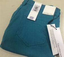 Ck Calvin Klein Jeans Ladies BrightColoured Denim Trousers/pants Low Rise SKINNY Green W29 L34