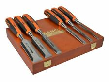BAHCO 6 Piece 424P Precision Wood Chisel Set & Storage Case, 6,10,12,18,25,32mm